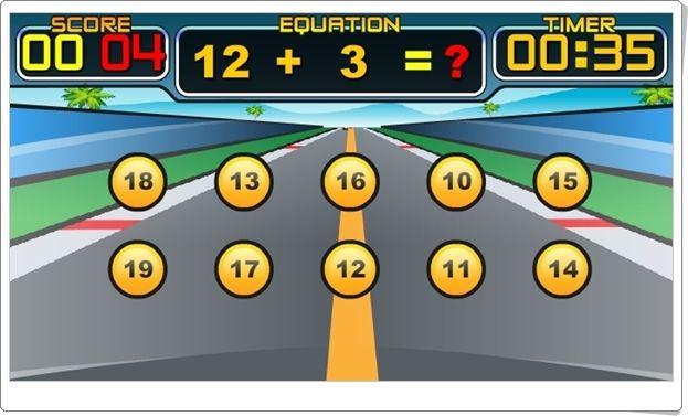 """""""Ultimate Speed Math"""" es un juego de carreras de automóviles en el que se puede adelantar al resto de coches y ganar la carrera si se contesta rápidamente el resultado de sumas o restas o multiplicaciones o divisiones. Por ello, puede jugarse, a nivel fácil, desde 1º de Primaria, hasta más difícil, en las divisiones con divisor 12, por 6º de Primaria."""