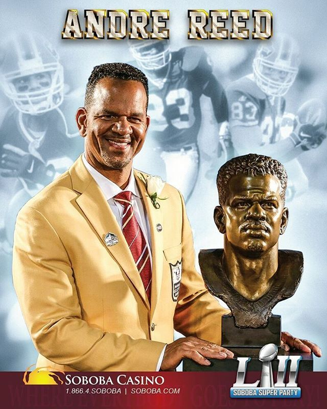 I designed this for our Super Bowl guest @andre_reed83 .  Come out and meet this Hall of Famer at Soboba Casino this Sun Feb 4th at 1pm.  #marlouieart #design #graphicdesign #twitter #graphics #designer #andrereed #autograph #superbowl #superbowl2018 #halloffame #football #buffalo #bills #83