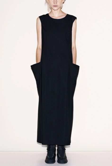 //: Mm6 Home, Style, Dresses, Big Pockets, Deep Pocket, Wear, Black Dress, Maison Martin Margiela