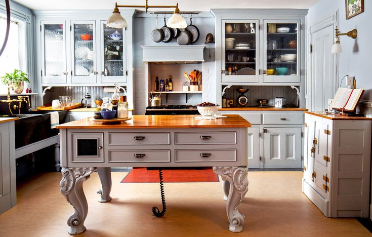 A most amazing kitchen island -- with old piano legs!  Victoriana in Bedford-Stuyvesant - Slide Show - NYTimes.com
