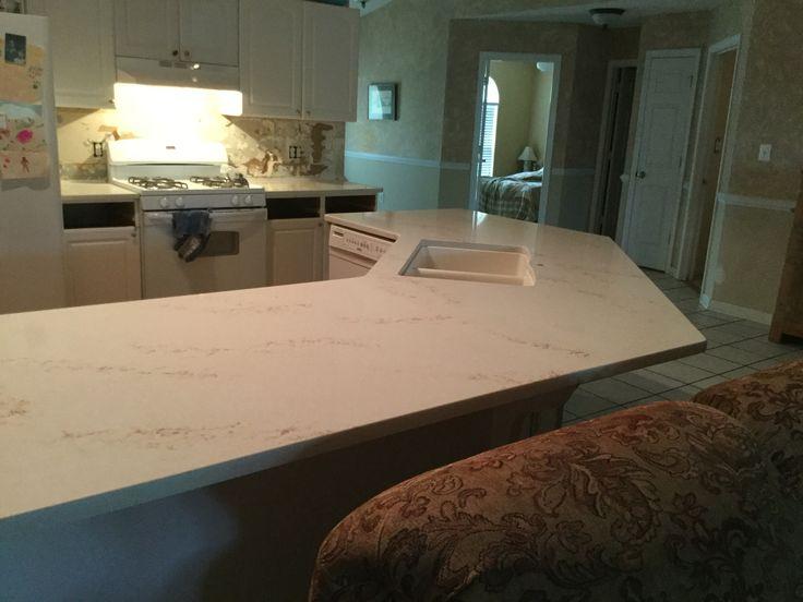Phase 2 New Quartz HanStone Countertop In Serenity