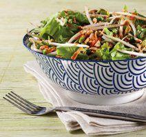 Salade orientale vinaigrette aux arachides