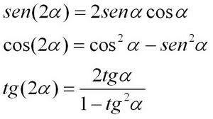 Ángulos Dobles, trigonometría
