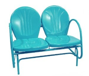 Amazon.com: Turquoise Blue Outdoor Patio Double Glider Chair: Patio, Lawn & Garden