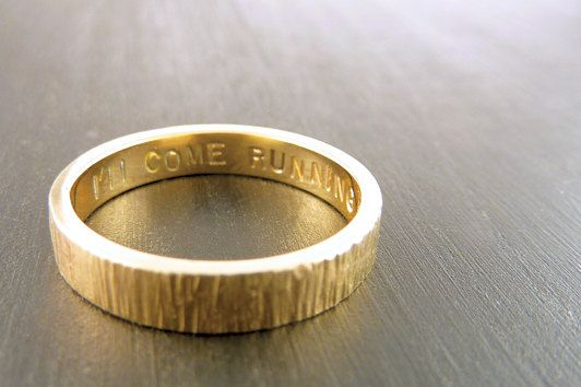 Wood Grain Printed Ring, $550 | 34 Unconventional Wedding Band Options For Men