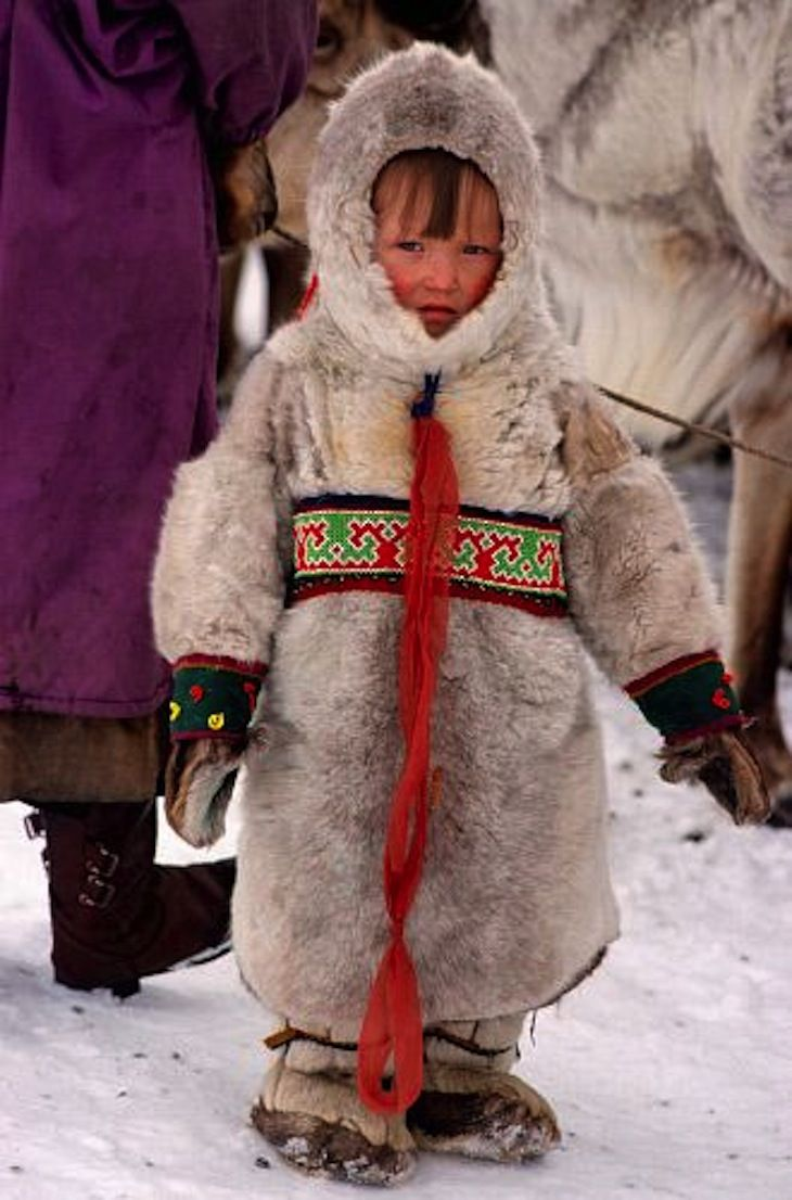 "The Komi are indigenous peoples in northeastern Russia. The name ""Komi"" comes from the word ""kam"" meaning ""large river"" referring to the fact that they live around the basins of the Vychegda, Pechora and Kama rivers. They are the native inhabitants of the Komi Republic which was established in 1992. There are many lakes and rivers in the region, therefore the waterways were the main routes of transportation and communication."