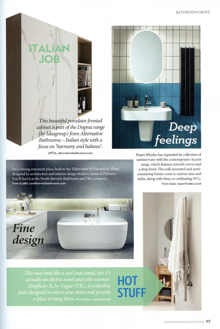The beautiful porcelain-fronted cabinet is part of the Dogma range from Alternative Bathrooms. http://www.alternativebathrooms.com/ Homes & Interiors Scotland March & April 2018
