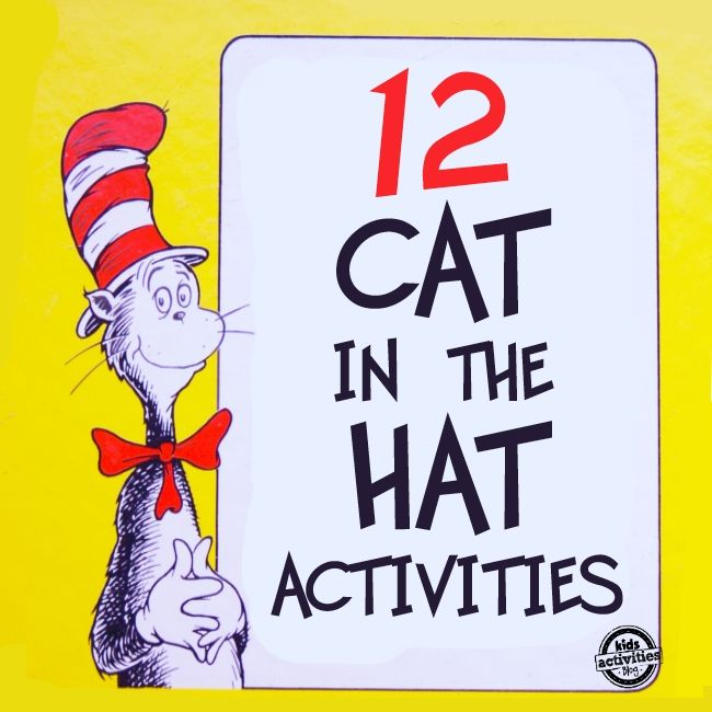 12 Dr. Suess Cat in the Hat Crafts and Activities for Kids