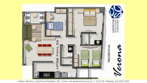 Bairro dos Bancários, Anatólia - Apartamentos novos, prontos, 2 quartos com elevador.