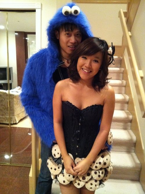 Cookie Monster &amp Cookies i know im a total perv for this - Cute Unique Halloween Costumes
