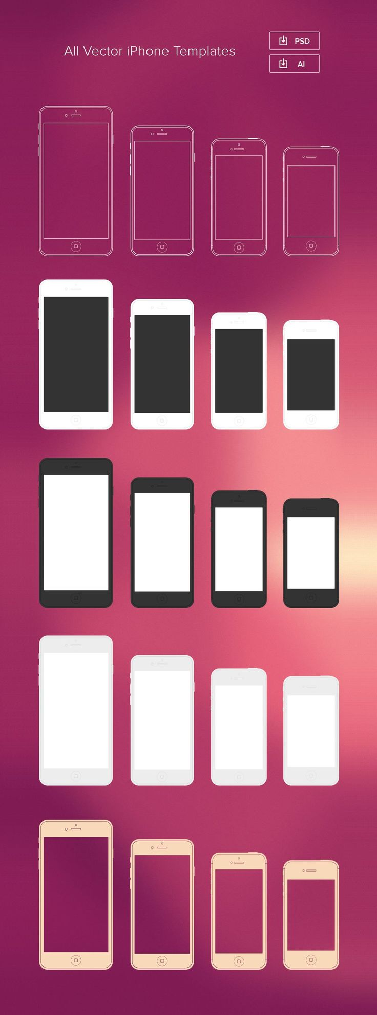 Best iPhone 6 Mockup Design Templates