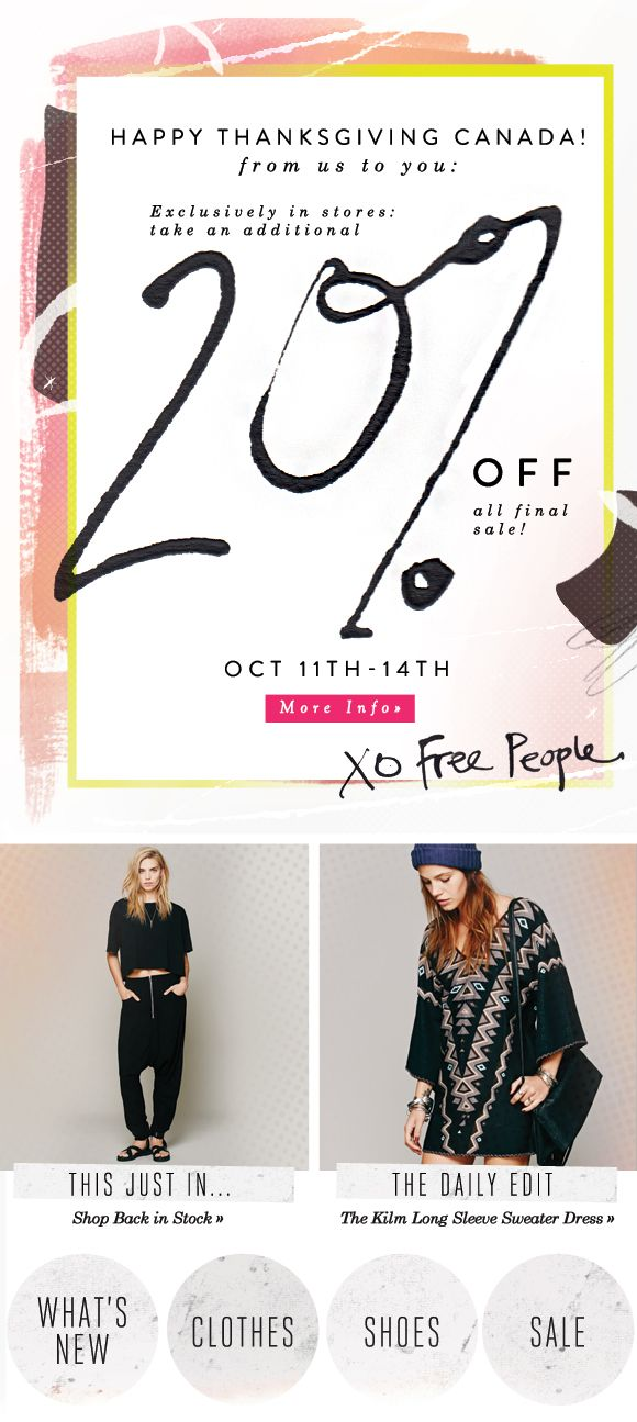 Free People Emails & Web Elements - Abby Wilhelm Design