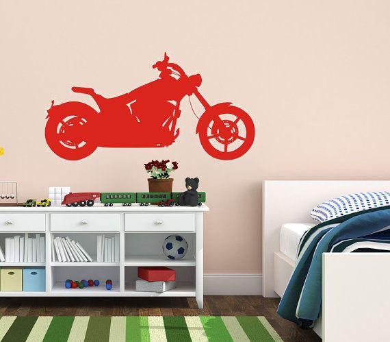 Motorcycle    Wall Art Home Decor Vinyl Decal by VillageVinePress, $29.95