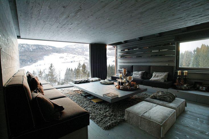 17 migliori idee su interni di case in montagna su pinterest case di legno camino da baita e - Case design interni ...