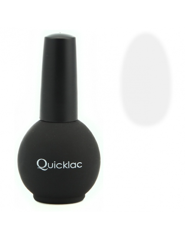 Quicklac TOP MATTE .  The special formulation of Quicklac allows the cure of the gel in 20 seconds in a LED UV lamp and less than 2 minutes in a UV lamp 36 watt lowering the working time to 15 minutes even.  Quicklac Top MATTE will give a matt effect on your nails.  Use it as a sealant over the entire nail after Quicklac Color or effect matt / shiny.