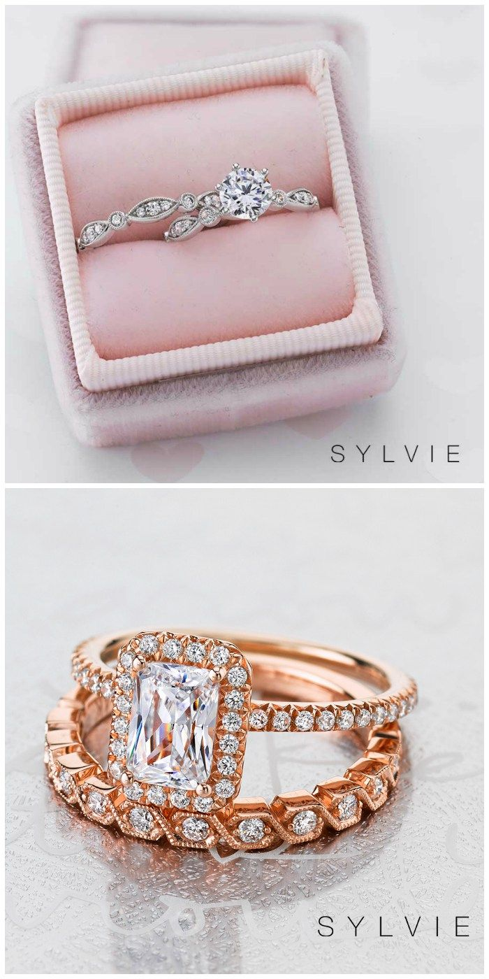 Win A Free Sylvie Collection Diamond Ring Matchthestack Stacked Diamond Bands Jewelry Appraisal Different Engagement Rings