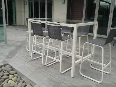 Bar Leaner Table with 6 Chairs ~ Wharf 7 - www.wharf7.co.nz