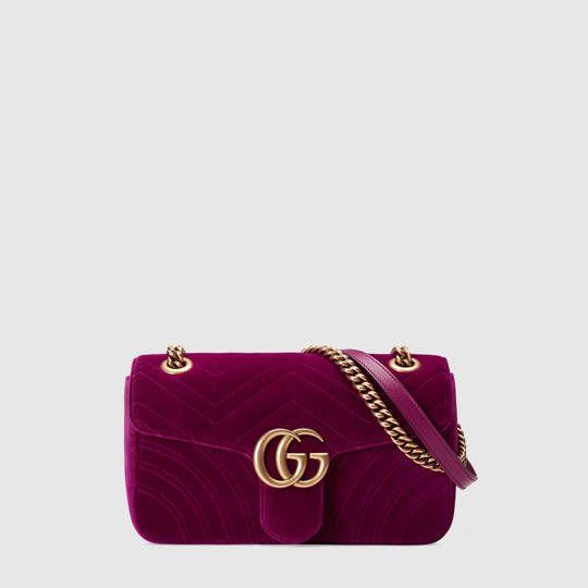 Gucci Borsa a spalla GG Marmont in velluto