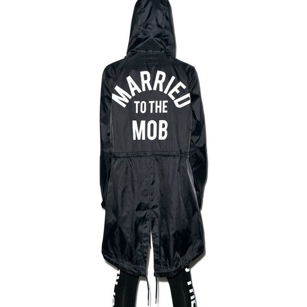 Married to the Mob Arch Mob Parka (175 AUD) ❤ liked on Polyvore featuring outerwear, coats, blue parka coat, long parka coats, j.crew coats, babydoll coat and parka coat