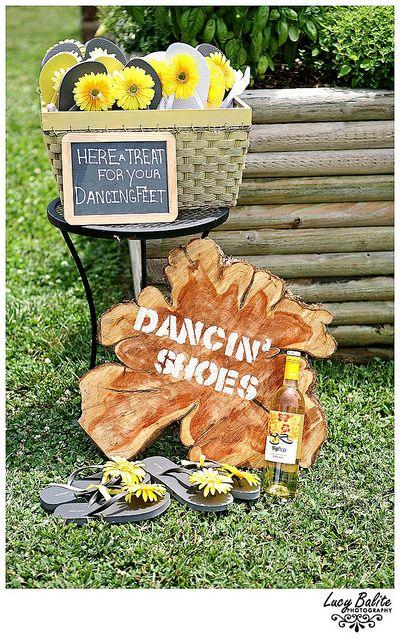 Backyard wedding dancing slippers