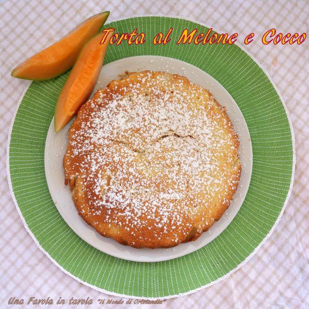 deliziosa torta al melone e cocco, senza glutine!