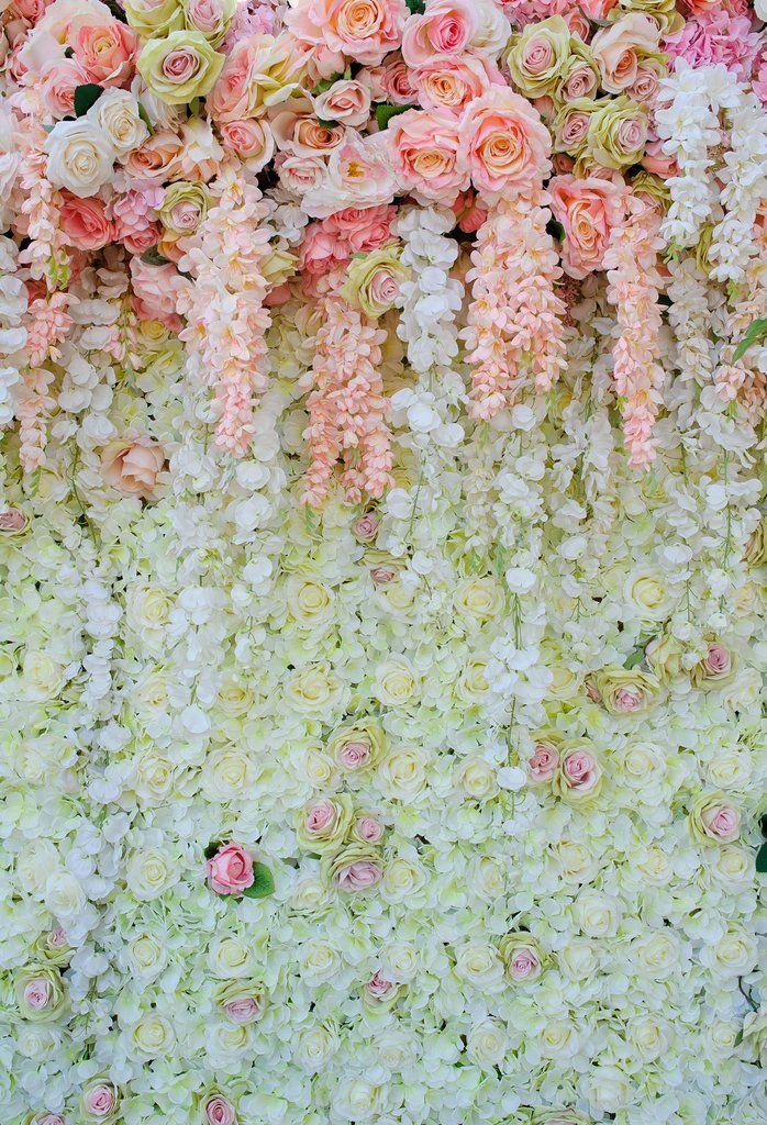 1000pc White Artificial Rose Petals Wedding Aisle Back Panel Photo Backdrop