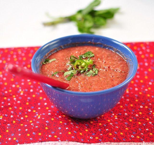 Summer Soup: Watermelon, Cucumber & Mint Looks refreshing!