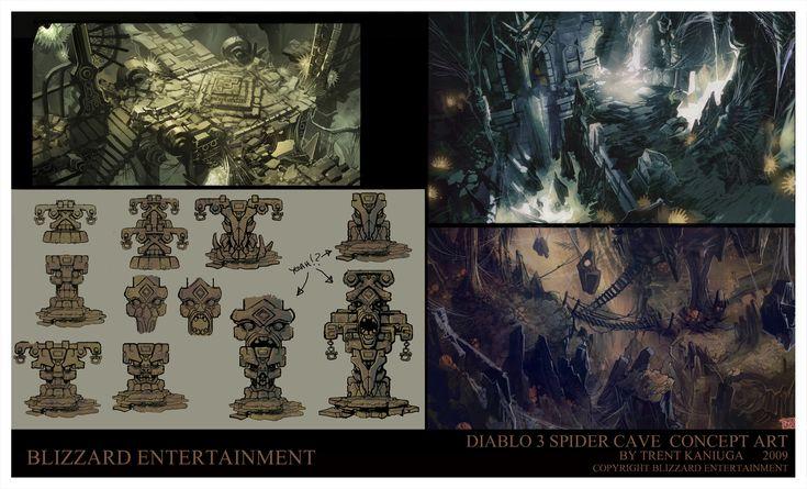 Diablo 3  Spider Caves 2, Trent Kaniuga on ArtStation at https://www.artstation.com/artwork/w99qX