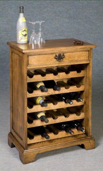 wine rack with drawer made of solid oak this solid oak wine rack with drawer would look splendid in any dining room or kitchen and can accommodate