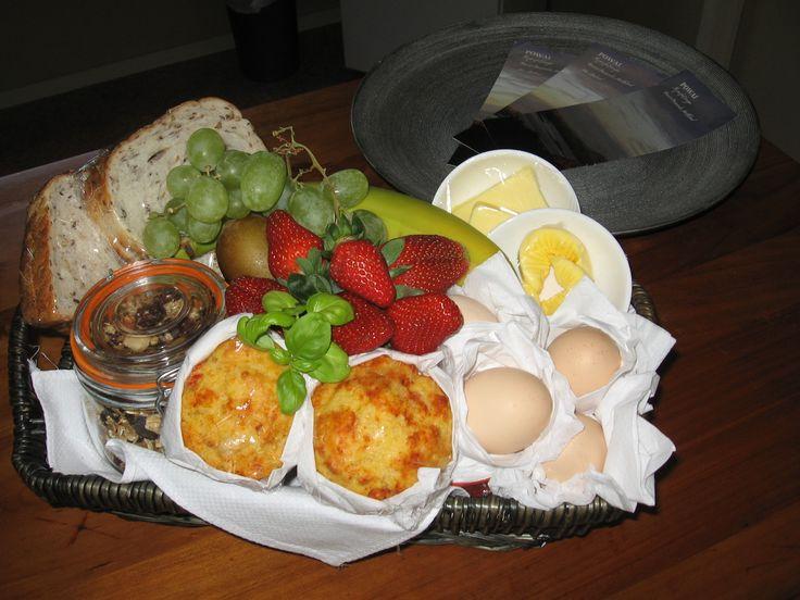 Delicious breakfast basket on arrival #Powailodge