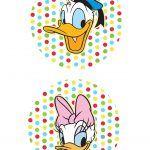 Toppers para Doces Pato Donald e Margarida