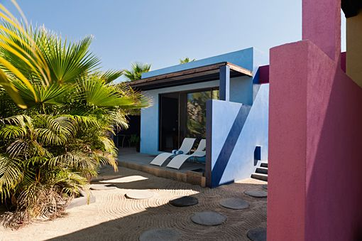 Modern Design - Small Hotel - Todos Santos Hotel, Todos Santos, Mexico. A great small hotel in Mexico has amazing colors, each room has a different theme...