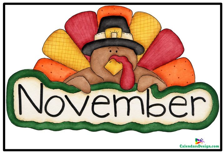 November Clipart Free Download   Thanksgiving clip art, Thanksgiving turkey  pictures, Free clip art