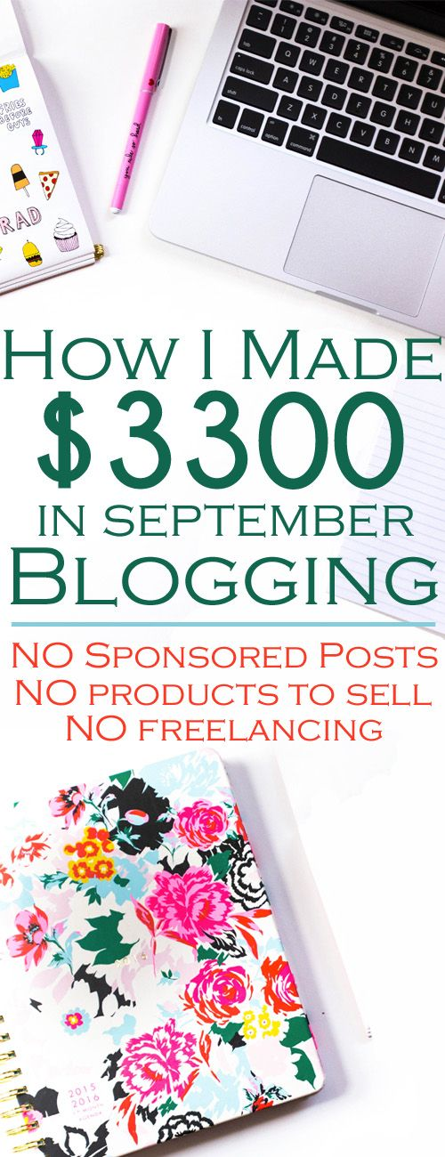 how to start a blog and how to make money blogging. Sept blog income report.