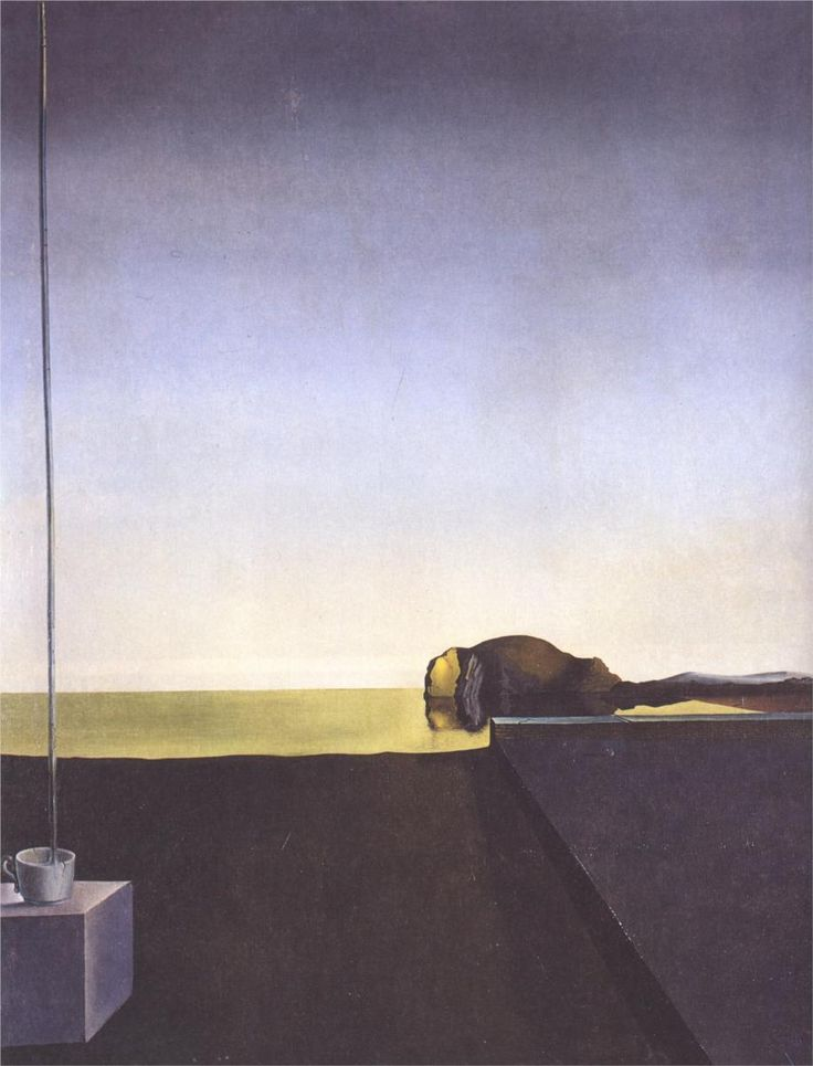 "The True Painting Of ""The Isle of the Dead"" by Arnold Bocklin at the Hour of the Angelus by Salvador Dalí"