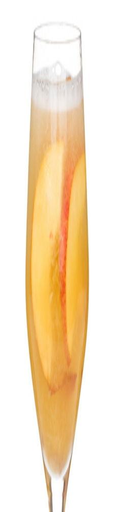 Peach Bellini Prosecco - peach juice, peaches, Champagne or Prosecco