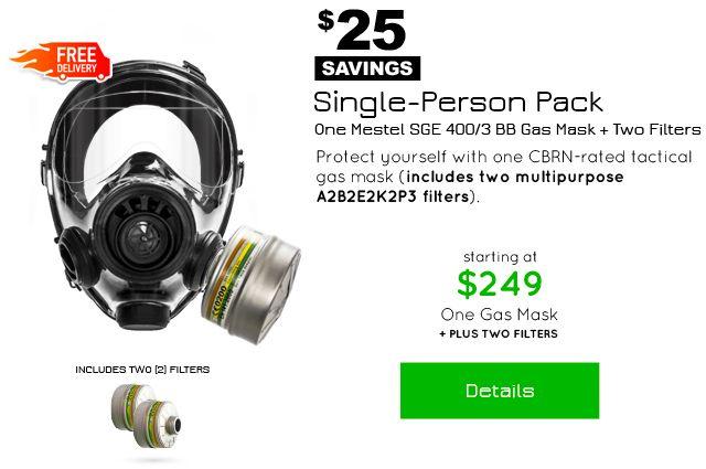 Advanced Tactical Gas Mask - Mestel SGE 400/3 BB | Top Tier Gear USA