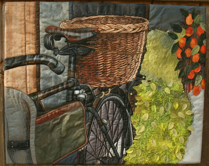 Bicyclette A piece inspired by texture and a photo taken in Paris. Completed: 2012