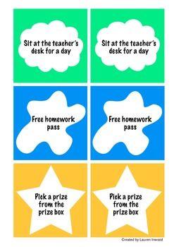 Classroom Coupons (Classroom Reward System).