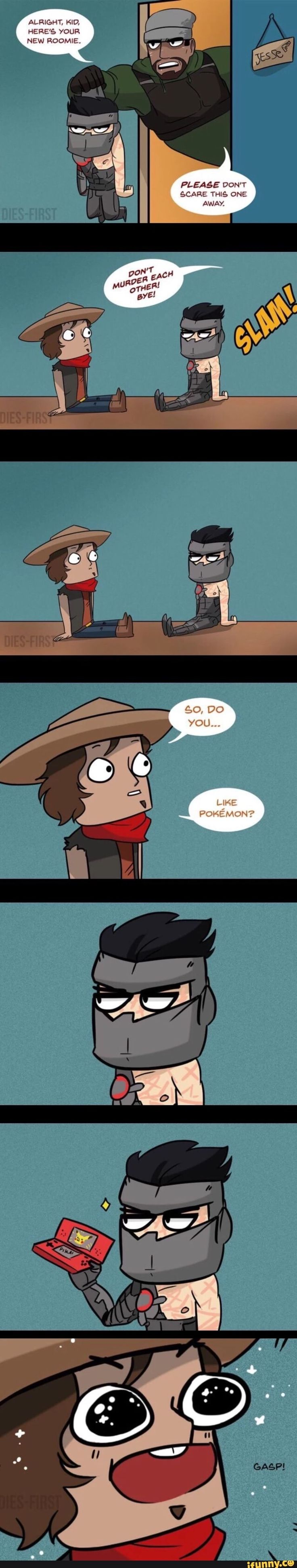 Overwatch young Gabriel, Genji and McCree comic by dies-first on Tumblr