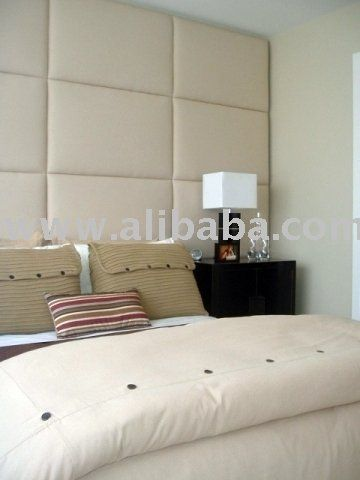 Upholstered Wall Panels Behind Bed In Master Instead Of A