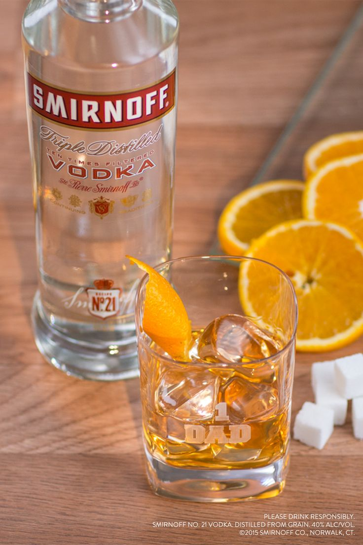 Wish your dad a happy fathers day with an easy and good for Drinks with simple syrup and vodka