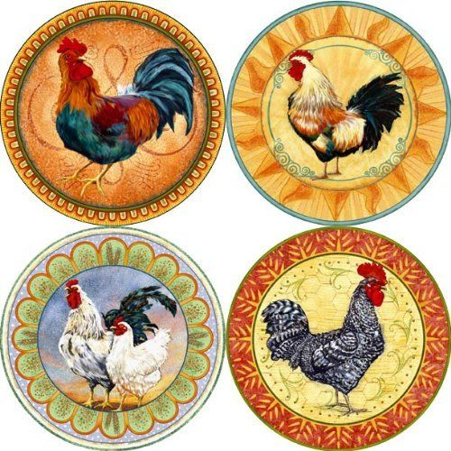 Lisau0027S Roosters Absorbent Coasters By CoasterStoneu2026