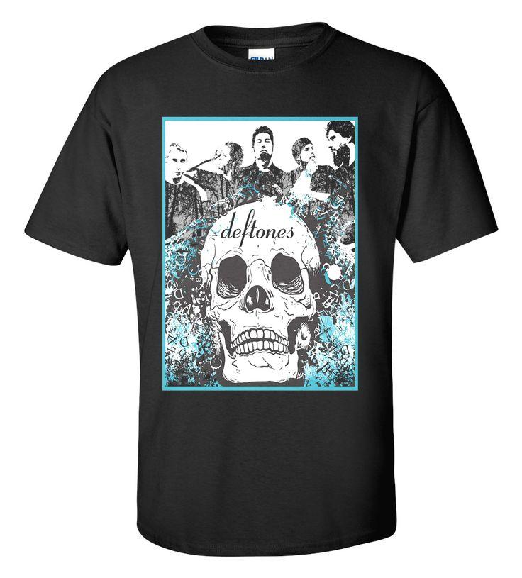 Deftones Skull T-shirt M/L/XL/2XL/3XL Clothing Tshirt