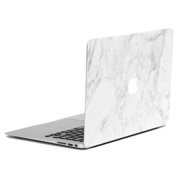 "MacBook Case - Soft Touch - Hard Case - Top & Bottom Coverage by King Cases (Macbook Pro 13"", White Marble)"