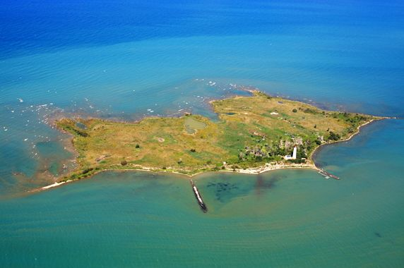 Aerial photo of Chantry Island