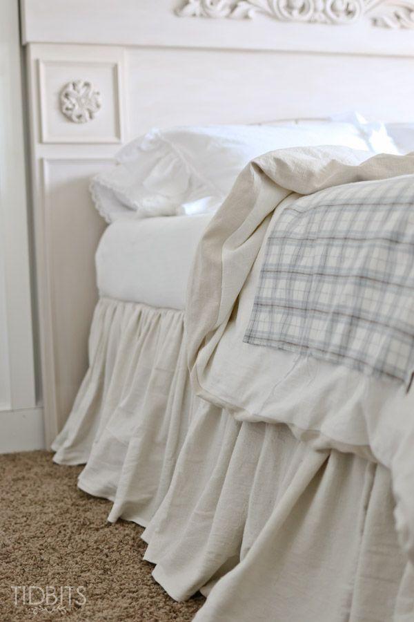 Diy Gathered Bed Skirt Baby Kids Room Diy Bed Bedroom