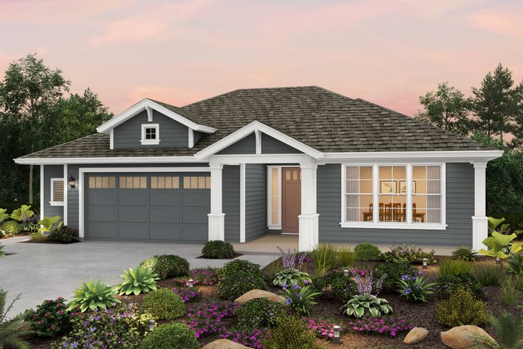 Plan 3, Elevation C Ridge Meadows Grass Valley, CA Homes by Towne