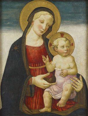 Maestro di San Miniato - Madonna col Bambino e melograno - 1470 - Dunedin  Art Gallery, Museums Nuova Zelanda
