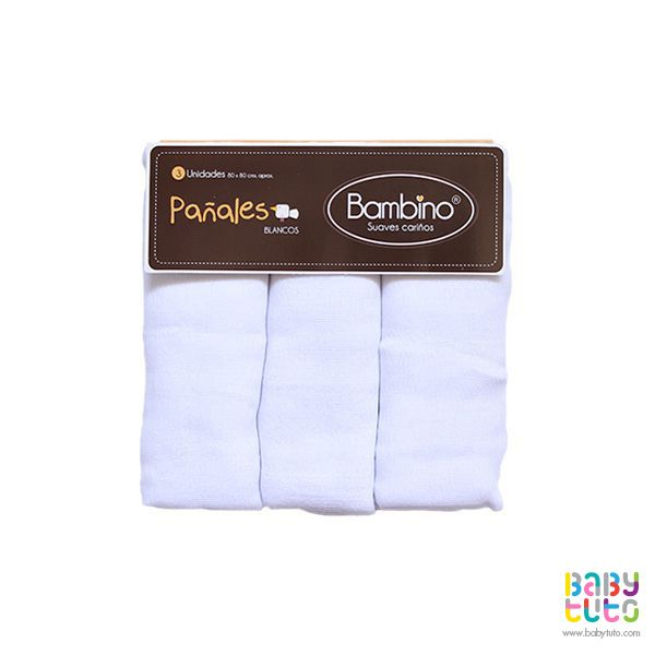 Pañal blanco 100% algodón, $4.290 (precio referencial). Marca Bambino: http://bbt.to/1eYU0TY